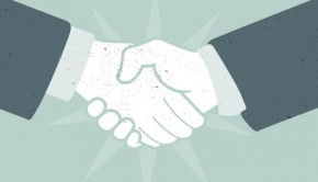 an image of a business handshake