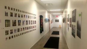 Hall way art exhibit