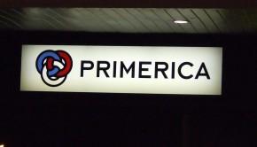 Primerica office sign.