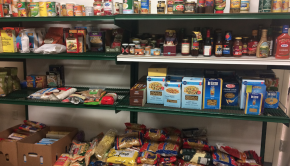Photo of non-perishable food items at the Vaughan Food Bank